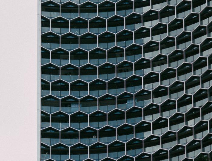八角形のグリッド