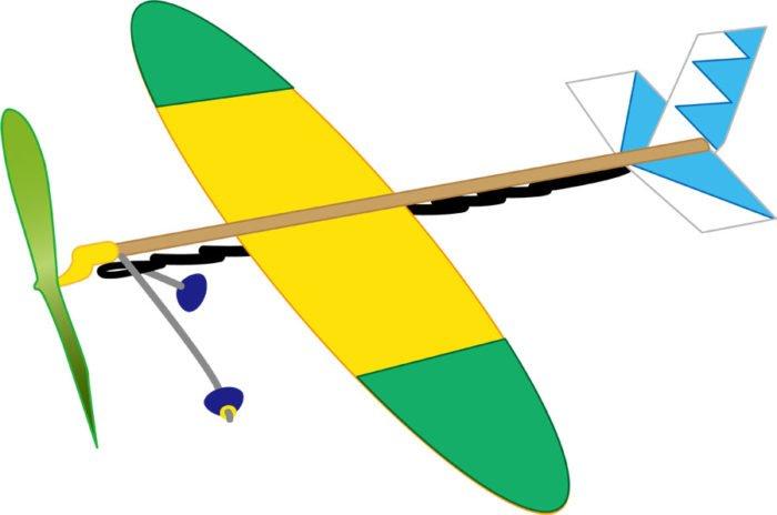 ゴム動力飛行機